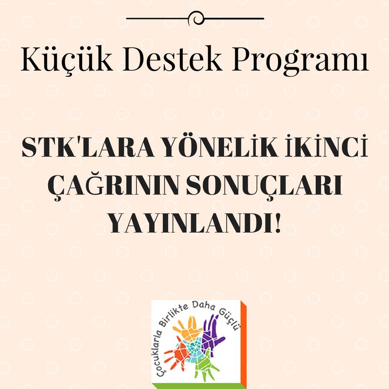 Küçük Destek Programı STK'lara Yönelik İkinci Çağrının Sonuçları